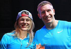 Die Gewinner: Yuliya Levchenko und Piotr Lisek